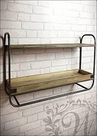 etagere cuisine metal étagère murale style industriel en métal et en bois amazon fr
