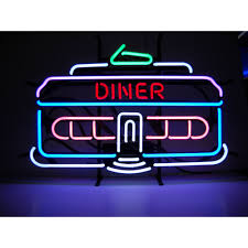 neonetics wall lighting cars and motorcycles diner car neon sign