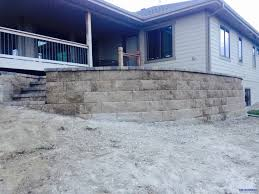 Raised Paver Patio Raised Patio And Retaining Wall Tmg Enterprises Omaha Ne