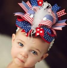 fourth of july hair bows buy ott white blue patriotic 4th of july big hair bow headband