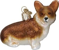world christmas world christmas pembroke corgi glass tree ornament 2 75