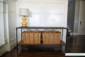 Restoration Hardware Console Table by Family Room Decor Update The Sunny Side Up Blog