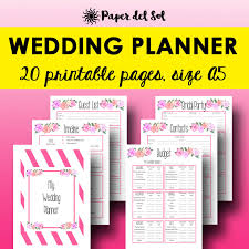 wedding planner book wedding planner printable wedding planning binder a5 planner