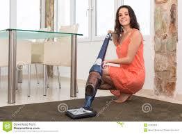 vacuuming living room stock photo image 47662625