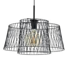 wire cage pendant light eglo 49996 allerby led black wire cage pendant light