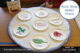 hula hoop seder plate big upcycle for kids bible belt balabusta