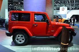 jeep wrangler side 2015 jeep wrangler sahara side at the iaa 2015 indian autos blog