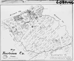 Uvalde Texas Map Burleson County Tx Usgenweb Archives