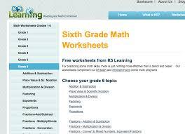 free 6th grade math workbooks sixth grade worksheets for math