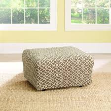 Stretch Ottoman Slipcover Sure Fit Stretch Ironworks Ottoman Slipcover At Brookstone Buy Now