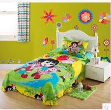 new style children cartoon polyester cotton bed set kids happy