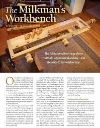 milkman u0027s workbench plans u2022 woodarchivist