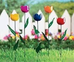 outdoor metal flowers amazon com