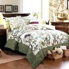 Walmart Duvet Cotton Quilt Bedding Set King Queen Twin Boho Birds Green