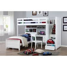 Bunk Bed With Desk Bunk Bed Desk For Girls Full Kids Bunk Beds - White bunk bed with desk