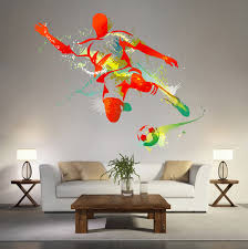 kcik119 full color wall decal soccer football ball sport spray kcik119 full color wall decal soccer football ball sport spray paint room bedroom sports hall