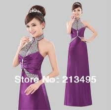 popular long sequin evening gowns in purple buy cheap long sequin