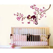Monkey Wall Decals For Nursery by Monkey Sleeping On The Branch Wall Decal Wall Art Decals Vinyl