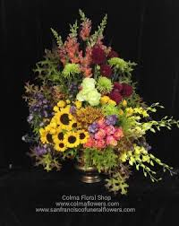flower arrangements for funerals autumn sunset arrangement san francisco funeral flowers colma