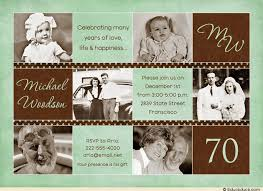 free 70th birthday invitations templates invitation ideas 70th