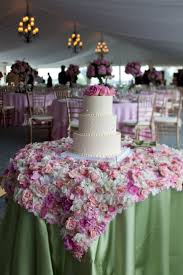 cake names for wedding tables burlap linens and flowers very
