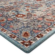 ava rug blue botanical tufted area rug 5 u0027x7 u0027 threshold