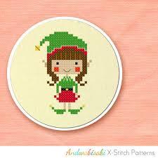 sewing patterns christmas elf kitschy digitals sewing needlework patterns christmas elf