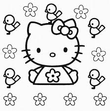 kitty coloring pages free printable