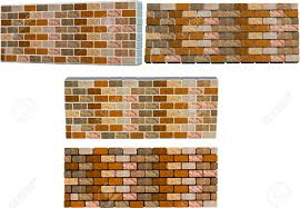 2d and 3d brick walls with different colored mortar royalty free