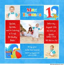 boy 1st birthday invitation splash party starfish u0026 waves