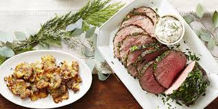 beef tenderloin menu dinner party herb crusted beef with dijon cream sauce recipe how to make herb