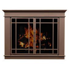 wood stove glass doors glass fireplace doors in bronze