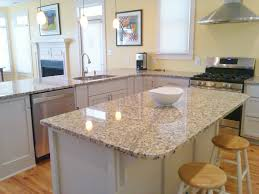 venetian ice granite with gray cabinets painted with sherwin