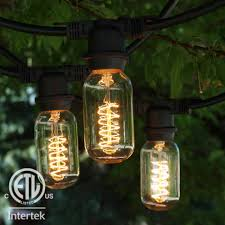 48 ft black commercial medium string light with t14 vintage spiral