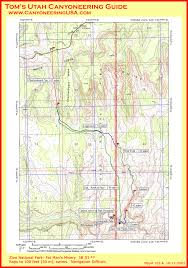 Map Of Zion National Park Fat Man U0027s Misery Zion National Park