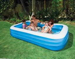 Plastic Swimming Pools At Walmart Exterior Nice Blue And White Rectangle Swim Center Family Pool