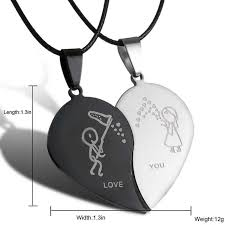 heart couple necklace images 2017 new couple necklace broken heart necklaces pendants lovers jpg