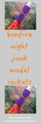bonfire night junk model rockets daisies u0026 pie