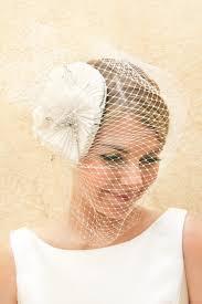 veils hair accessories by suzy orourke birdcage veil with flower