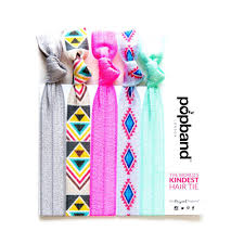 pop bands hair tribal popbands grey pink mint green hair bands with aztec