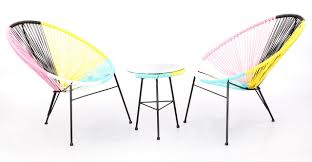 Acapulco Outdoor Chair Acapulco Chairs U0026 Table 3pc Neapolitan Edition Kardiel