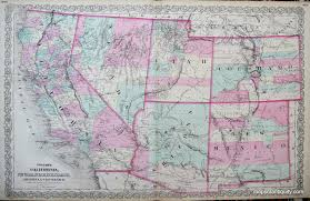 Arizona Map With Cities And Towns by Colton U0027s California Nevada Utah Colorado Arizona And New