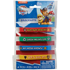 paw patrol rubber bracelets 4 count party supplies walmart