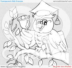 clipart owl black and white clipart of a black and white cartoon professor owl holding a book