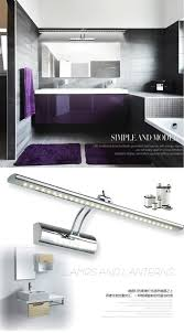 led mirror light wall lamps modern brief bathroom mirror led light