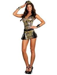 Halloween Costumes Military Womans Camouflage Halloween Costume 6 Pcs Picture