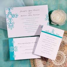 inexpensive wedding invitations simple blue damask brides inexpensive wedding invitation