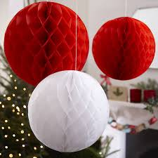 three honeycomb balls hanging decorations by