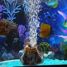 Volcano Shape Aquarium Fish Tank Decor oxygen pump air bubble