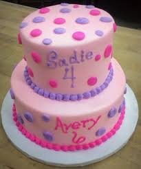 two tiered party cake with polka dots u2014 trefzger u0027s bakery